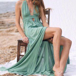 Free People Juniper Look Into The Sun Maxi Dress S